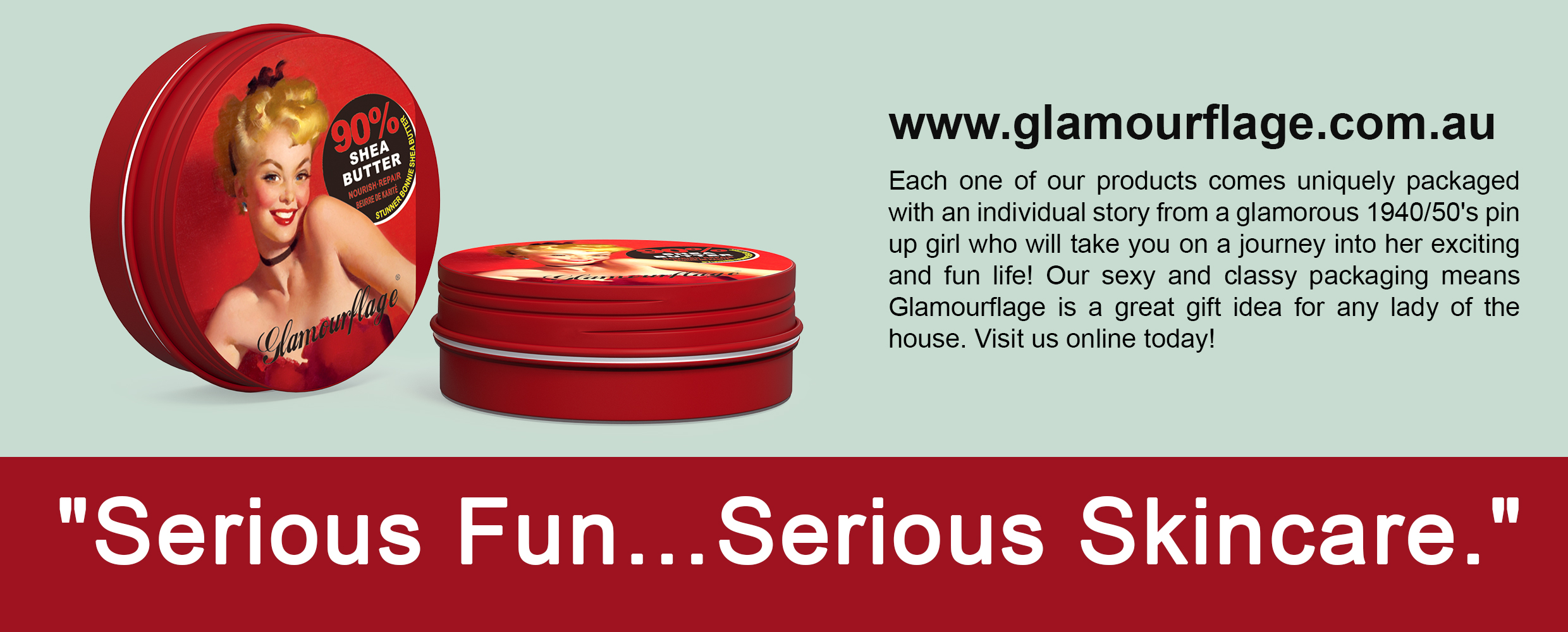 Glamourflage Skincare. SKINCARE. NOT TESTED ON ANIMALS. VEGAN.
