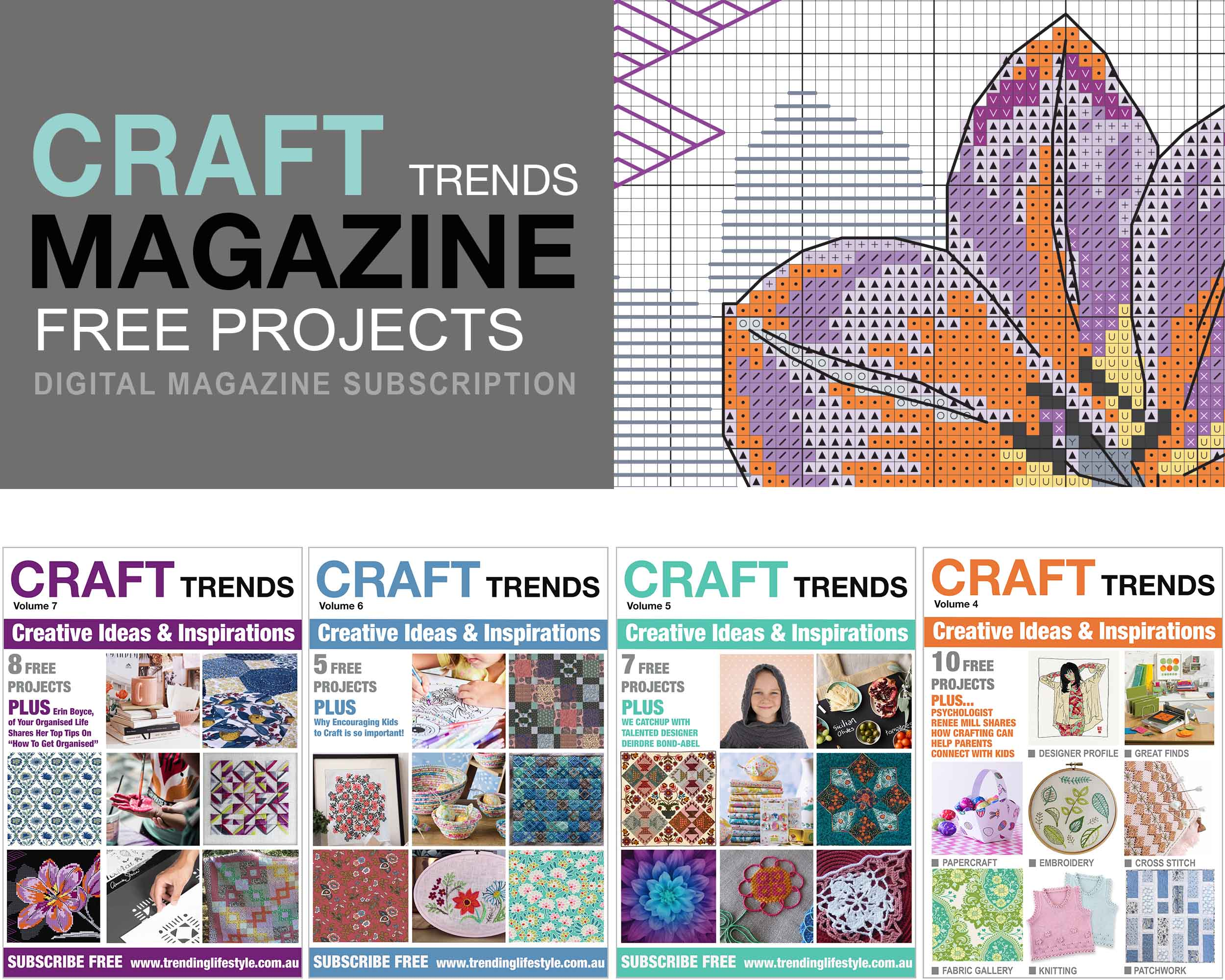 Craft Trends Magazine Free Projects